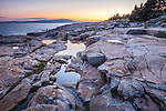 Sunset at Schoodic Point in Acadia National Park, Maine, USA
