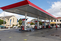 South Africa.  Caltex Gas Station in a Cape Town Suburb.