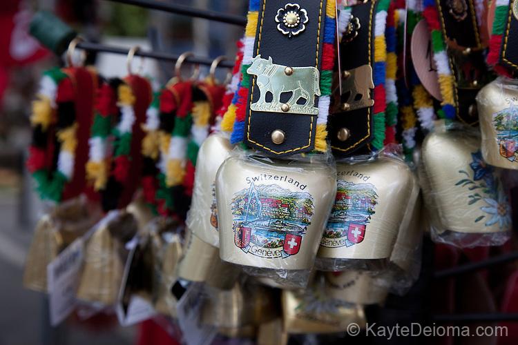 Souvenir cowbells in Geneva, Switzerland