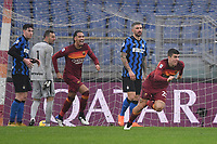 Gianluca Mancini of Roma celebrates after scoring the 2-2 goal during the Serie A football match between AS Roma and FC Internazionale at Olimpico stadium in Roma (Italy), January 10th, 2021. Photo Andrea Staccioli / Insidefoto