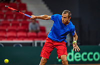 The Hague, The Netherlands, September 15, 2017,  Sportcampus , Davis Cup Netherlands - Chech Republic, Seccond Rubber: Lukas Rosol (CZE)<br /> Photo: Tennisimages/Henk Koster