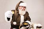 Irish Santa Claus with a pot of gold