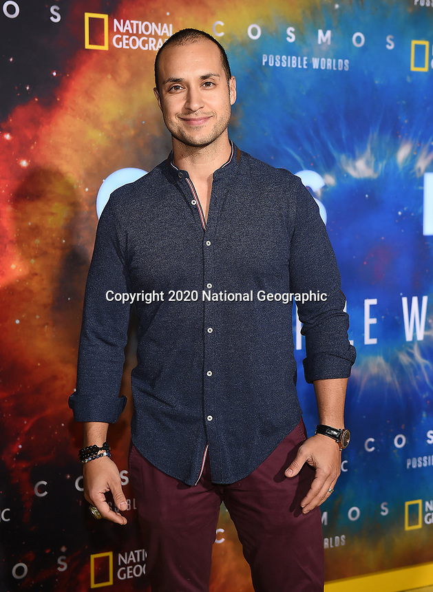 """LOS ANGELES - FEBRUARY 26: Jaylen Moore attends National Geographic's 2020 Los Angeles premiere of """"Cosmos: Possible Worlds"""" at Royce Hall on February 26, 2020 in Los Angeles, California. Cosmos: Possible Worlds premieres Monday, March 9 at 8/7c on National Geographic. (Photo by Frank Micelotta/National Geographic/PictureGroup)"""