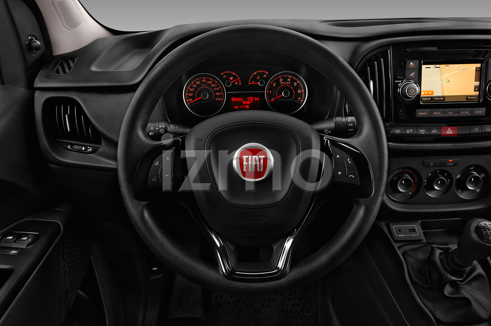 Car pictures of steering wheel view of a 2016 Fiat Doblo Pack 4 Door Cargo Van