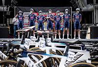 Team Alpecin-Fenix during the team presentation <br /> <br /> Heylen Vastgoed Heistse Pijl 2021 (BEL)<br /> One day race from Vosselaar to Heist-op-den-Berg (BEL/193km)<br /> <br /> ©kramon