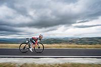 Toms Skujins (LVA/Trek-Segafredo)<br /> <br /> Men's Elite Road Race from Imola to Imola (258km)<br /> <br /> 87th UCI Road World Championships 2020 - ITT (WC)<br /> <br /> ©kramon