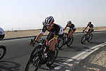 Radioshack-Nissan Trek team warms up before the 2nd Stage of the 2012 Tour of Qatar an 11.3km team time trial at Lusail Circuit, Doha, Qatar. 6th February 2012.<br /> (Photo Eoin Clarke/Newsfile)