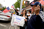 """Thousands of immigrants and their supporters rallied around the city today in solidarity, marking the """"Day Without Immigrants"""" celebrations nationwide. Walkouts, strikes and rallies were stages to show support for the legalization of undocumented workers.. A """"Human Chain"""" rally in Jackson Heights, Queens.<br />"""