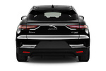 Straight rear view of 2020 Jaguar I-PACE HSE 5 Door SUV Rear View  stock images