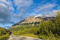 Glenn Highway in the Matanuska Valley, Alaska.