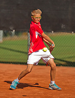 Netherlands, Rotterdam August 07, 2015, Tennis,  National Junior Championships, NJK, TV Victoria, Kaj van den Heuvel<br /> Photo: Tennisimages/Henk Koster