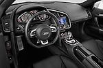 High angle dashboard view of a 2008 - 2012 Audi R8 V8 FSI Coupe.