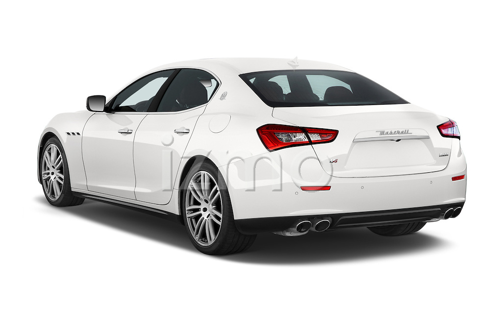 Car pictures of rear three quarter view of a 2014 Maserati Ghibli Base 4 Door Sedan Angular Rear