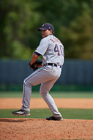 Detroit Tigers pitcher Bryan Garcia (40) during a minor league Spring Training game against the Atlanta Braves on March 25, 2017 at the ESPN Wide World of Sports Complex in Orlando, Florida.  (Mike Janes/Four Seam Images)
