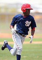 March 22, 2010:  Eury Perez of the Washington Nationals organization during Spring Training at the Carl Barger Training Complex in Melbourne, FL.  Photo By Mike Janes/Four Seam Images