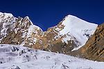 Saribung (6348 m) east face seen from Bhrikuti Glacier, Nepal, 2008