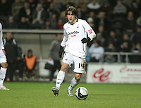 Pictured: Jordi Gomez of Swansea<br /> Re: Coca Cola Championship, Swansea City FC v Barnsley at the Liberty Stadium. Swansea, south Wales, Tuesday 09 December 2008.<br /> Picture by D Legakis Photography / Athena Picture Agency, Swansea 07815441513