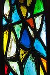 Colourful glass lead light in Le Seu Cathedral, Palma De Mallorca, Spain