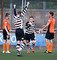 Paul Quinn (12) celebrates after he scores Shire's second goal  ...