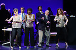 """Ivy Austin, Hugh Panaro, Housso Semon, Andrew Fitch, Hal Shane and Debbie Gravitte during the curtain call bows for """"They're Playing Our Song"""" Concert Benefit for The Actors Fund at the Music Box Theatre on February 11, 2019 in New York City."""