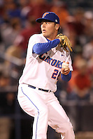 """Florida Gators Nick Maronde #26 during a game vs. the Florida State Seminoles in the """"Florida Four"""" at George M. Steinbrenner Field in Tampa, Florida;  March 1, 2011.  Florida State defeated Florida 5-3.  Photo By Mike Janes/Four Seam Images"""