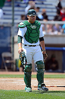 Beloit Snappers catcher Bruce Maxwell #13 during a game against the Cedar Rapids Kernels on May 23, 2013 at Pohlman Field in Beloit, Wisconsin.  Beloit defeated Cedar Rapids 5-3.  (Mike Janes/Four Seam Images)