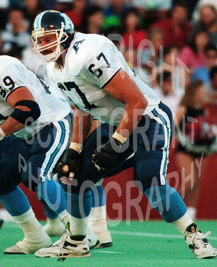 Chris Schultz Toronto Argonauts 1991. Copyright photograph Scott Grant