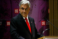 Sebastián Piñera Echenique, President of the Republic of Chile - 2010<br /> <br /> London 18/10/2010. Sebastián Piñera Echenique, President of the Republic of Chile, meets Peter Sutherland (Chair of London School of Economics) and gives a speech at LSE about The Chilean Way to Development. In the meanwhile, outside the venue, people protest against his government and policies.
