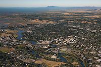 aerial photograph of the City of Napa toward Mount Tamalpais, Napa County, California