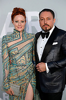 CAP D'ANTIBES, FRANCE - JULY 16:  Barbara Meier  and Klemens Hallmannat the amfAR Cannes Gala 2021 during the 74th Annual Cannes Film Festival at Villa Eilenroc on July 16, 2021 in Cap d'Antibes, France. <br /> CAP/GOL<br /> ©GOL/Capital Pictures