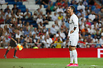 Real Madrid´s Cristiano Ronaldo regrets missing a chance during Santiago Bernabeu Trophy match at Santiago Bernabeu stadium in Madrid, Spain. August 18, 2015. (ALTERPHOTOS/Victor Blanco)