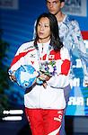 Aya Terakawa (JPN), <br /> JULY 30, 2013 - Swimming : Bronze medalist Aya Terakawa of Japan after the women's 100m backstroke final at the 15th FINA Swimming World Championships at Palau Sant Jordi arena in Barcelona, Spain.<br /> (Photo by Daisuke Nakashima/AFLO)