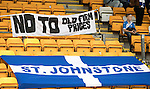 St Johnstone v Celtic…20.08.16..  McDiarmid Park  SPFL<br />A sign protesting at ticket prices<br />Picture by Graeme Hart.<br />Copyright Perthshire Picture Agency<br />Tel: 01738 623350  Mobile: 07990 594431