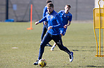 St Johnstone Training...19.03.21<br />David Wotherspoon pictured during training at McDiarmid Park ahead of tomorrows game against Ross County.<br />Picture by Graeme Hart.<br />Copyright Perthshire Picture Agency<br />Tel: 01738 623350  Mobile: 07990 594431