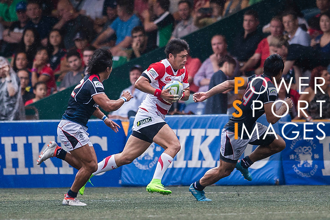 Rikiya Matsuda of Japan (C) in action during the Asia Rugby Championship 2017 match between Hong Kong and Japan on May 13, 2017 in Hong Kong, China. Photo by Marcio Rodrigo Machado / Power Sport Images
