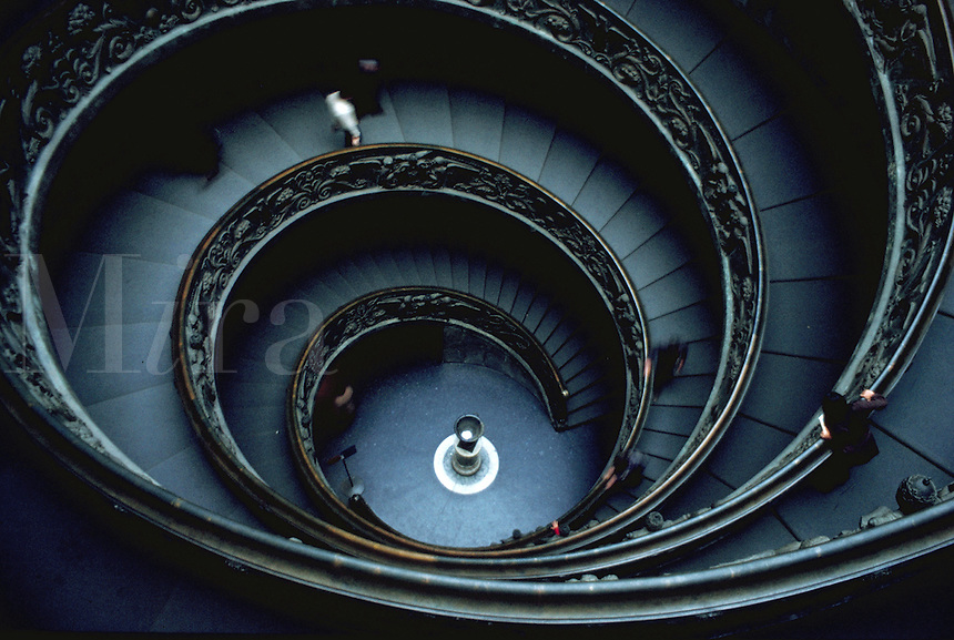 Ornate spiral staircase.
