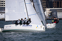 CentrePort Youth International Match Racing Championships in Wellington, New Zealand on Saturday, 27 March 2021. Photo: Dave Lintott / lintottphoto.co.nz