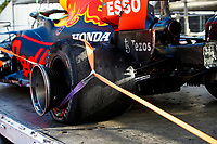 Red Bull Racing Honda RB16B after Pirelli tyre puncture crash during the Formula 1 Azerbaijan Grand Prix 2021 from June 04 to 06, 2021 on the Baku City Circuit, in Baku, Azerbaijan - <br /> FORMULA 1 : Grand Prix Azerbaijan <br /> 06/06/2021 <br /> Photo DPPI/Panoramic/Insidefoto <br /> ITALY ONLY