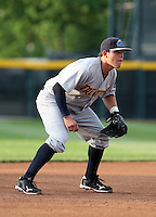 Trenton Thunder Third Baseman Brandon Laird (29) during a game vs. the Erie Seawolves at Jerry Uht Park in Erie, Pennsylvania;  June 23, 2010.   Trenton defeated Erie 12-7  Photo By Mike Janes/Four Seam Images