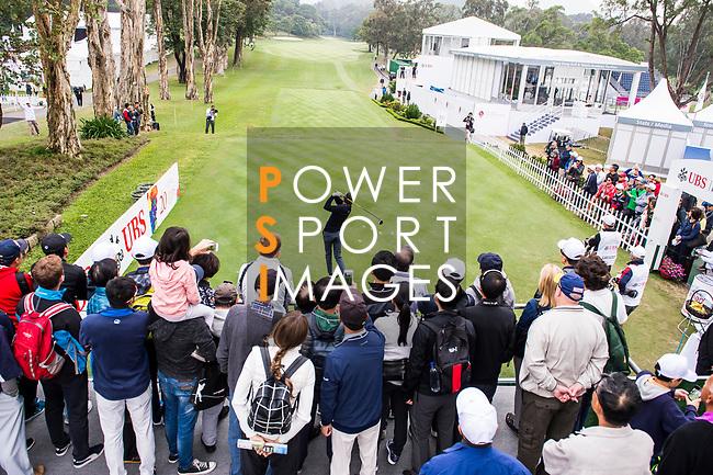 Fans watch as Robert Karlsson of Sweden tees off during the day three of UBS Hong Kong Open 2017 at the Hong Kong Golf Club on 25 November 2017, in Hong Kong, Hong Kong. Photo by Marcio Rodrigo Machado / Power Sport Images