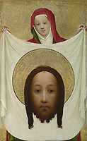 Full title: Saint Veronica with the Sudarium<br /> Artist: Master of Saint Veronica<br /> Date made: about 1420<br /> Source: http://www.nationalgalleryimages.co.uk/<br /> Contact: picture.library@nationalgallery.co.uk<br /> <br /> Copyright © The National Gallery, London