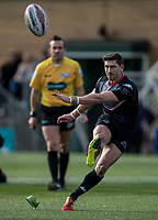 Jarrod Sammut (Man of the Match) converts the last try during the Kingstone Press Championship match between London Broncos and Rochdale Hornets at Castle Bar , West Ealing , England  on 26 March 2017. Photo by Steve Ball / PRiME Media Images.