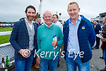 Enjoying the Ladies Day at the Listowel Races on Friday, l to r: Barry Sheehy (Abbeyfeale), Martin Murphy (Abbeyfeale) and Philip Woulfe (Athea).