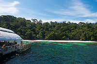 Pulau Payar island and floating platform