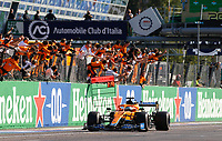 12th September, September 2021; Nationale di Monza, Monza, Italy; FIA Formula 1 Grand Prix of Italy, Daniel Ricciardo AUS, McLaren F1 Team, winner of the F1 Grand Prix of Italy at Autodromo Nazionale Monza