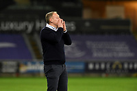 Steve Cooper Head Coach of Swansea City during the Sky Bet Championship match between Swansea City and Cardiff City at the Liberty Stadium in Swansea, Wales, UK. Saturday 20 March 2021