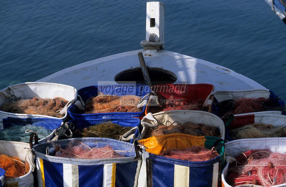 Europe/Chypre/Paphos : Filets sur le port de pche