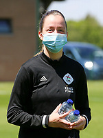Janne Huysmans (28) of OHL pictured before a female soccer game between Standard Femina de Liege and Oud Heverlee Leuven on the 10th and last matchday in play off 1 of the 2020 - 2021 season of Belgian Scooore Womens Super League , saturday 29 th of May 2021  in Angleur , Belgium . PHOTO SPORTPIX.BE | SPP | SEVIL OKTEM