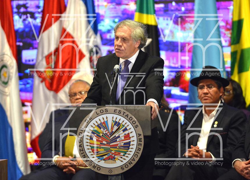 MEDELLÍN - COLOMBIA ,28-06-2019:Luis Almagro Seceretario General de la Asamblea General de La Organización de Estados Americanos (OEA)/ General Assembly of the Organization of American States (OEA). Photo: VizzorImage / León Monsalve / Contribuidor.