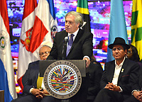 MEDELLÍN - COLOMBIA ,28-06-2019:Luis Almagro Seceretario General de la Asamblea General de La Organización de Estados Americanos (OEA)/ General Assembly of the Organization of American States (OEA). Photo: VizzorImage / León Monsalve / Contribuidor.